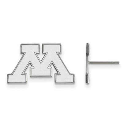 Picture of University of Minnesota Golden Gophers Sterling Silver Small Post Earrings