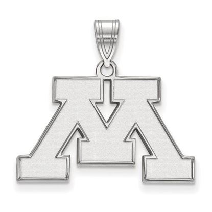 Picture of University of Minnesota Golden Gophers Sterling Silver Medium Pendant