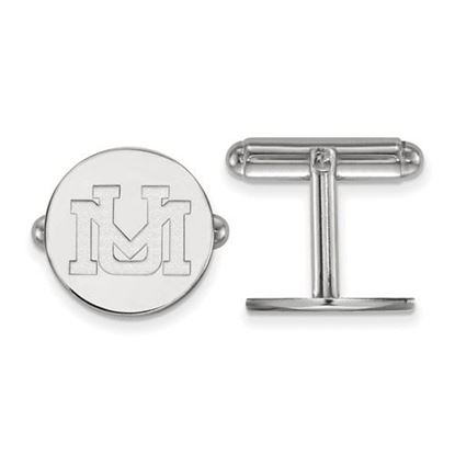 Picture of University of Montana Grizzlies Sterling Silver Cuff Links