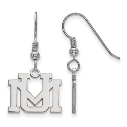 Picture of University of Montana Grizzlies Sterling Silver Small Dangle Earrings