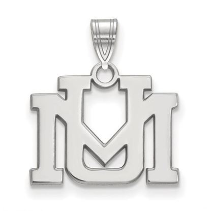 Picture of University of Montana Grizzlies Sterling Silver Small Pendant