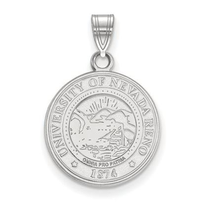 Picture of University of Nevada Wolfpack Sterling Silver Medium Crest Pendant