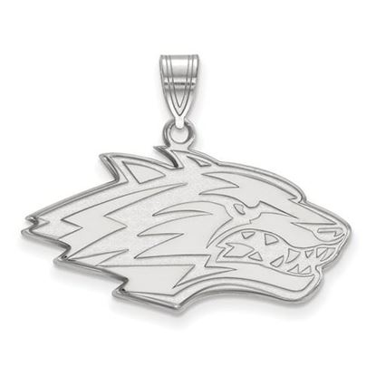 Picture of University of New Mexico Lobos Sterling Silver Large Pendant