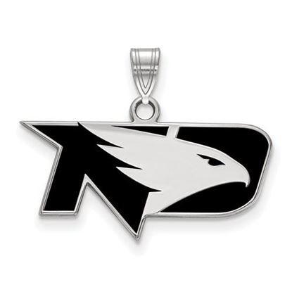 Picture of University of North Dakota Fighting Hawks Sterling Silver Small Enameled Pendant