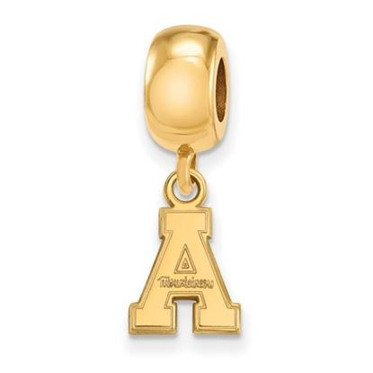 Picture of Appalachian State University Mountaineers Sterling Silver Gold Plated Extra Small Bead Charm