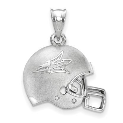 Picture of Arizona State University Sun Devils Logo Sterling Silver 3D Football Helmet Pendant
