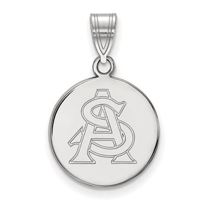 Picture of Arizona State University Sun Devils Sterling Silver Medium Disc Pendant