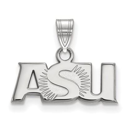 Picture of Arizona State University Sun Devils Sterling Silver Small ASU Pendant