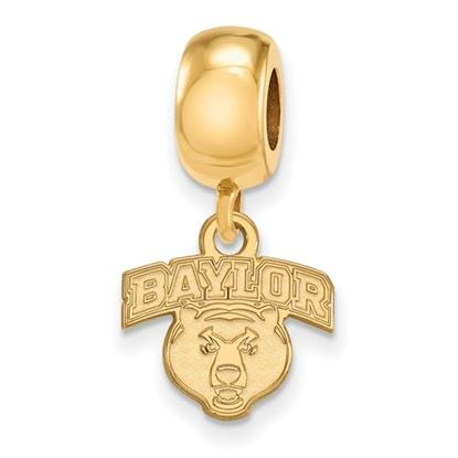Picture of Baylor University Bears Sterling Silver Gold Plated Extra Small Bead Charm