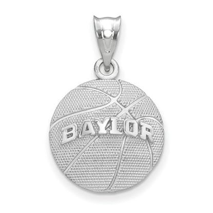 Picture of Baylor University Bears Sterling Silver Basketball Pendant