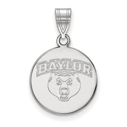 Picture of Baylor University Bears Sterling Silver Medium Disc Pendant