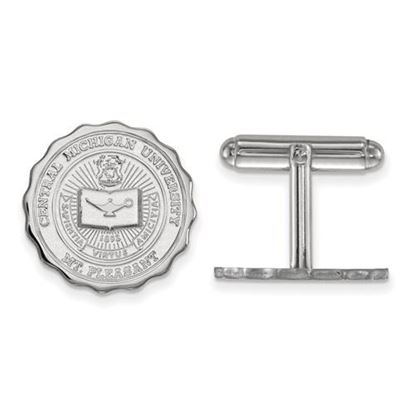 Picture of Central Michigan University Chippewas Sterling Silver Crest Cuff Links