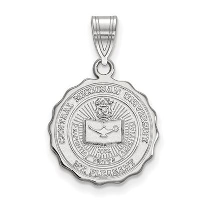 Picture of Central Michigan University Chippewas Sterling Silver Medium Crest Pendant