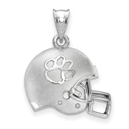 Picture of Clemson University Tigers Sterling Silver 3D Football Helmet Logo Pendant
