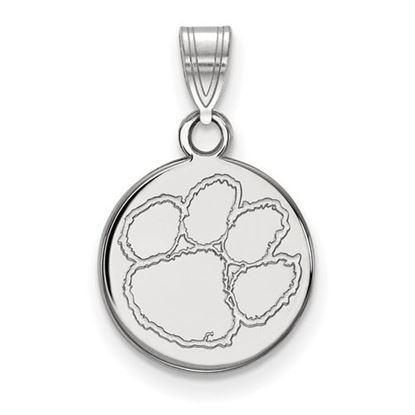 Picture of Clemson University Tigers Sterling Silver Small Disc Pendant