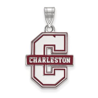 Picture of College of Charleston Cougars Sterling Silver Enameled Extra Large Pendant