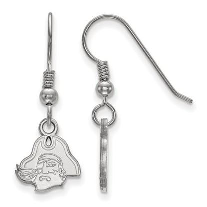 Picture of East Carolina University Pirates Sterling Silver Extra Small Dangle Earrings