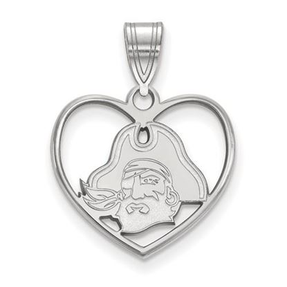 Picture of East Carolina University Pirates Sterling Silver Heart Pendant