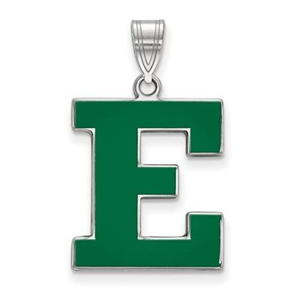 Picture of Eastern Michigan University Eagles Sterling Silver Enameled Large Pendant