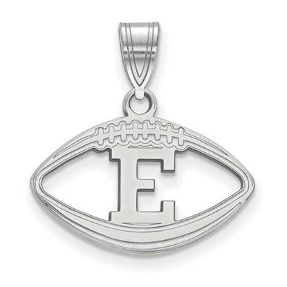 Picture of Eastern Michigan University Eagles Sterling Silver Football Pendant