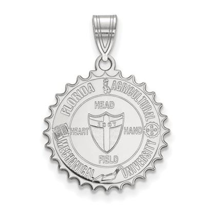 Picture of Florida A&M University Rattlers Sterling Silver Large Crest Pendant