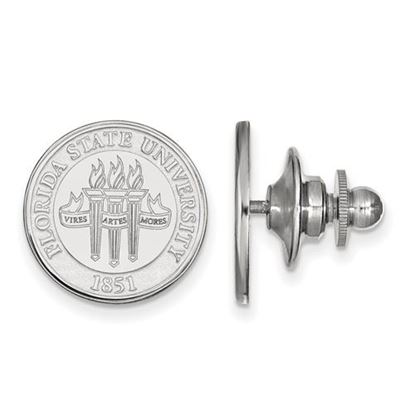 Picture of Florida State University Seminoles Sterling Silver Crest Lapel Pin