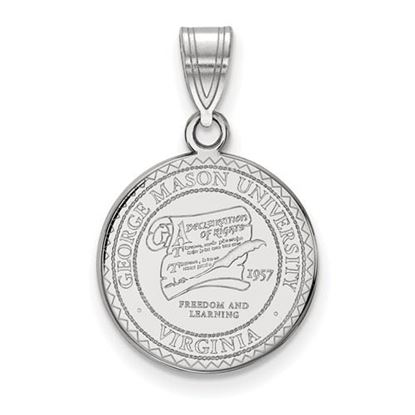 Picture of George Mason University Patriots Sterling Silver Medium Crest Pendant