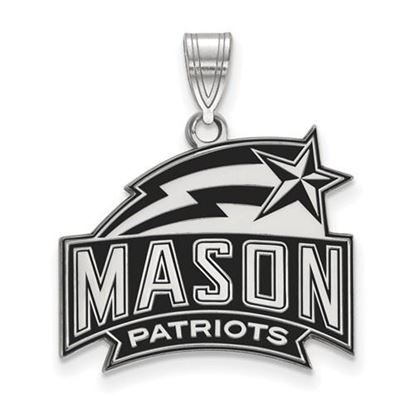 Picture of George Mason University Patriots Sterling Silver Medium Enameled Pendant