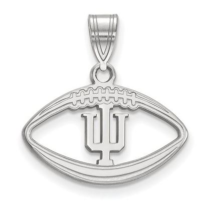 Picture of Indiana University Hoosiers Sterling Silver Football Pendant
