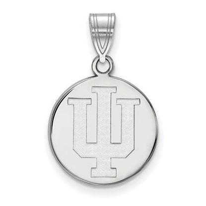 Picture of Indiana University Hoosiers Sterling Silver Medium Disc Pendant