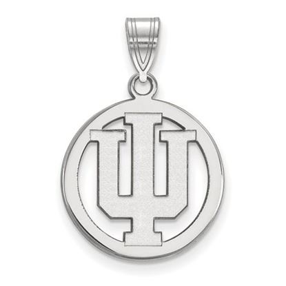 Picture of Indiana University Hoosiers Sterling Silver Small Circle Pendant