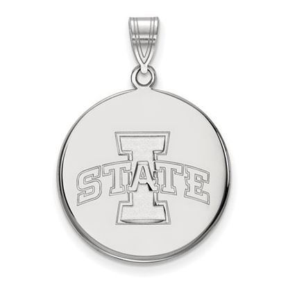 Picture of Iowa State University Cyclones Sterling Silver Large Disc Pendant
