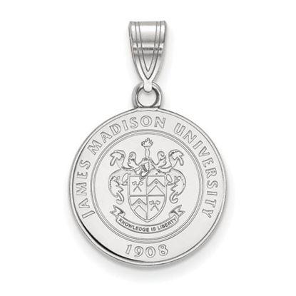 Picture of James Madison University Dukes Sterling Silver Medium Crest Pendant