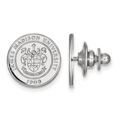 Picture of James Madison University Dukes Sterling Silver Crest Lapel Pin
