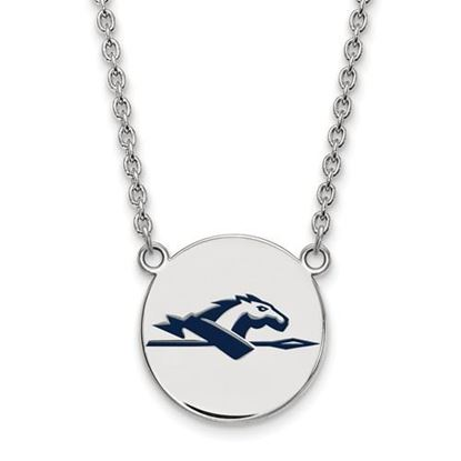 Picture of Longwood University Lancers Sterling Silver Large Enameled Disc Necklace