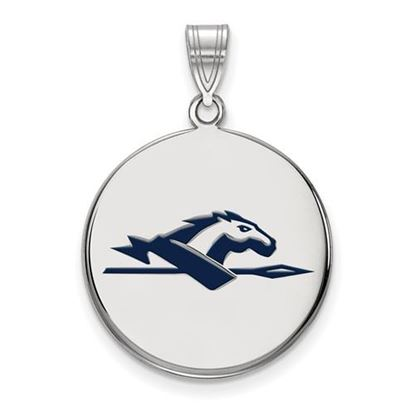 Picture of Longwood University Lancers Sterling Silver Large Enameled Disc Pendant