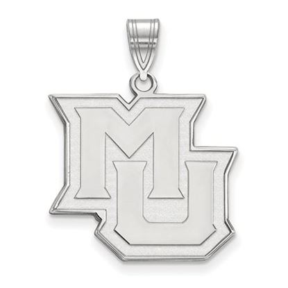 Picture of Marquette University Golden Eagles Sterling Silver Large Pendant