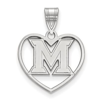 Picture of Miami University Redhawks Sterling Silver Heart Pendant