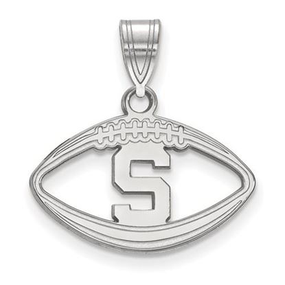 Picture of Michigan State University Spartans Sterling Silver Football Pendant