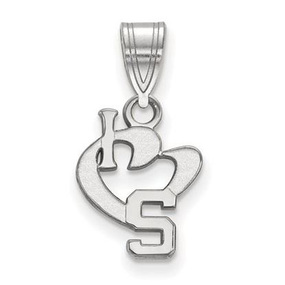 Picture of Michigan State University Spartans Sterling Silver Small I Love Logo Pendant