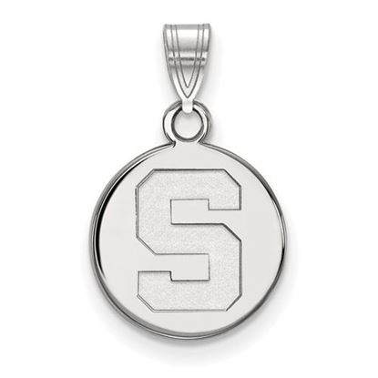 Picture of Michigan State University Spartans Sterling Silver Small Disc Pendant