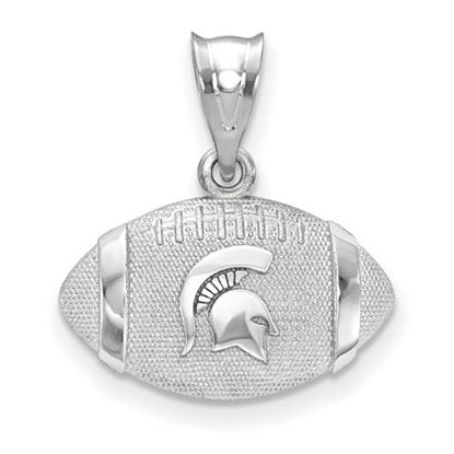 Picture of Michigan State University Spartans Sterling Silver Spartan Football Pendant
