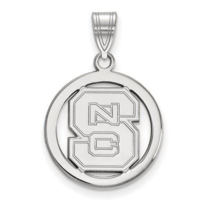 Picture of North Carolina State University Woldpack Sterling Silver Small Circle Pendant