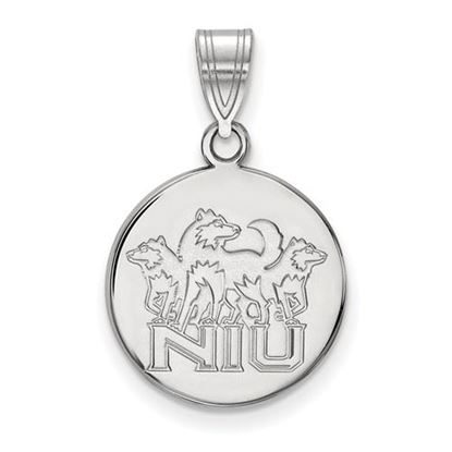 Picture of Northern Illinois University Huskies Sterling Silver Medium Disc Pendant