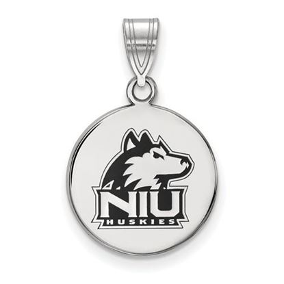 Picture of Northern Illinois University Huskies Sterling Silver Medium Enameled Disc Pendant