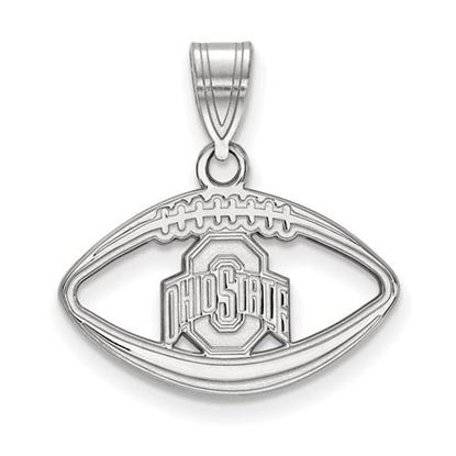 Picture of Ohio State University Buckeyes Sterling Silver Football Pendant