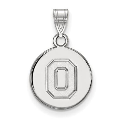 Picture of Ohio State University Buckeyes Sterling Silver Small Disc Pendant
