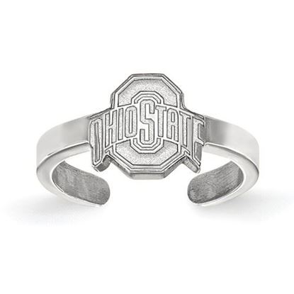 Picture of Ohio State University Buckeyes Sterling Silver Toe Ring