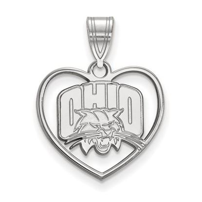 Picture of Ohio University Bobcats Sterling Silver Heart Pendant
