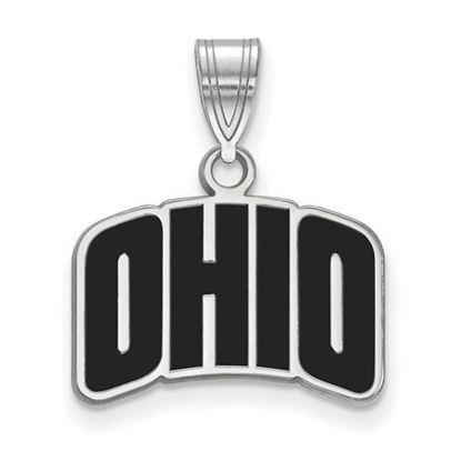 Picture of Ohio University Bobcats Sterling Silver Small Enameled Pendant